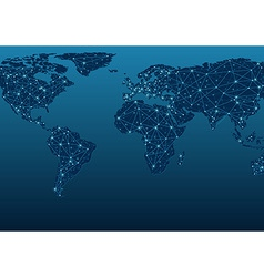 World Map Communications vector image