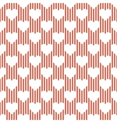 A pattern of hearts vector