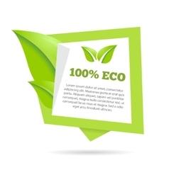 Abstract natural green banner stylized speech vector