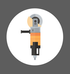 angle grinder icon working hand tool equipment vector image vector image