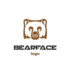 Bear logo template Animal head symbol vector image