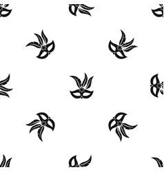 carnival mask pattern seamless black vector image