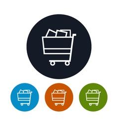 Cart icon basket icon vector image vector image