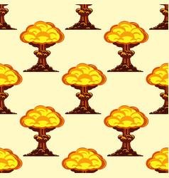 Cartoon explosion boom effect seamless pattern vector