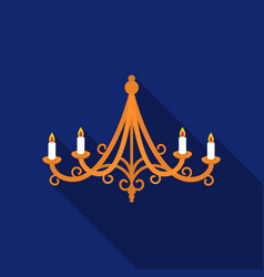 chandelier icon in flat style isolated on white vector image