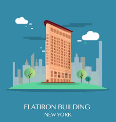 flatiron building new york vector image