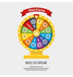 Fortune spinning wheel in flat style vector image vector image