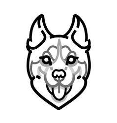 Husky head symbol on white background vector image vector image