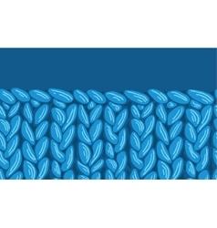 Knit sewater fabric horizontal seamless pattern vector image vector image