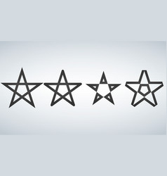 star icons isolated on white background vector image