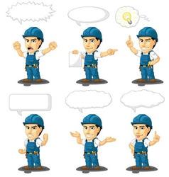 Technician or Repairman Mascot 17 vector image vector image