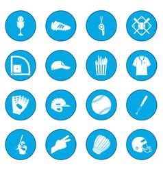 american football icon blue vector image vector image
