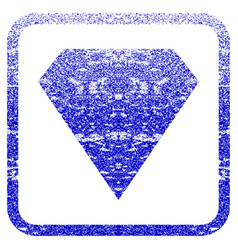 diamond framed textured icon vector image