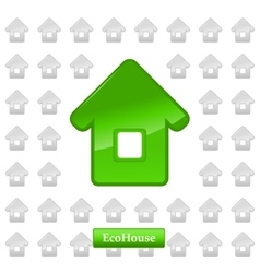 Ecohouse background vector image vector image