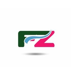 Letter f and z logo vector image