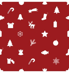 christmas icon pattern eps10 vector image vector image
