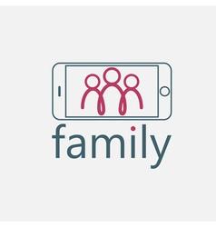 happy family selfie design template vector image vector image