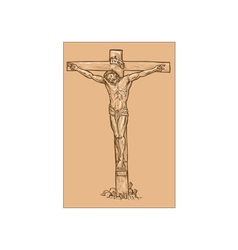 Jesus Christ hanging on the cross vector image