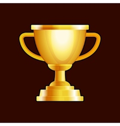 Winner Gold Cup on Dark Background vector image vector image