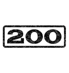 200 watermark stamp vector
