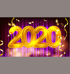 2020 new year party advertising banner vector