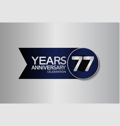 77 years anniversary logo style with circle vector