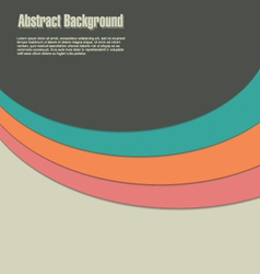 Abstract background retro color vector