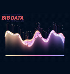 abstract colorful big data vector image
