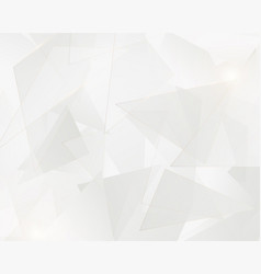 abstract white triangles geometric with golden vector image