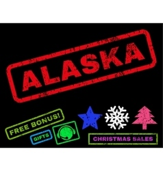 Alaska Rubber Stamp vector