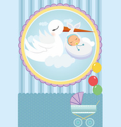 Baby shower card vector