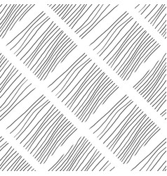black and white lines seamless pattern hand drawn vector image