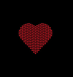 black card with heart vector image