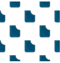 Blue pocket pattern flat vector