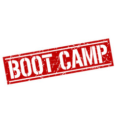 Boot camp square grunge stamp vector