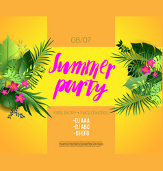 Bright summer party vector