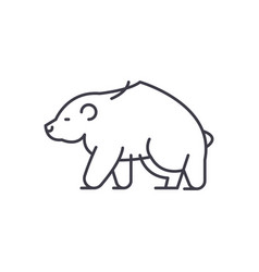 brown bear line icon concept brown bear vector image
