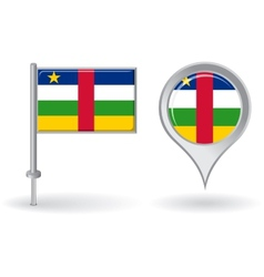 Central African Republic pin icon and map pointer vector