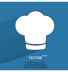 Chef cap Cooking Flat modern web button with long vector image