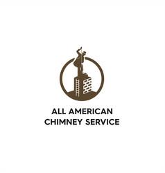Chimney service vintage logo vector