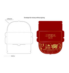 Chinese new year money red packet - ang pau vector