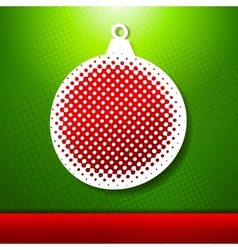Christmas and New year holidays card with ball vector image