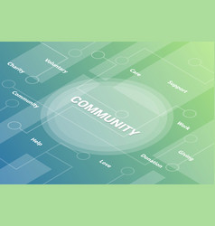 communication concept words isometric 3d word vector image