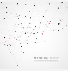 connection dots and lines science background vector image