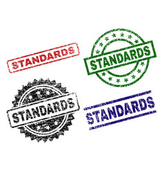 Damaged textured standards stamp seals vector