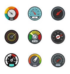 dashboard icon set flat style vector image