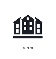 Duplex isolated icon simple element from real vector