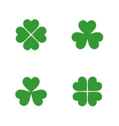 flat clover leaves set vector image