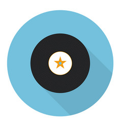 Flat vinyl music record vector
