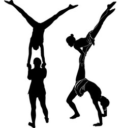 Gymnasts acrobats vector